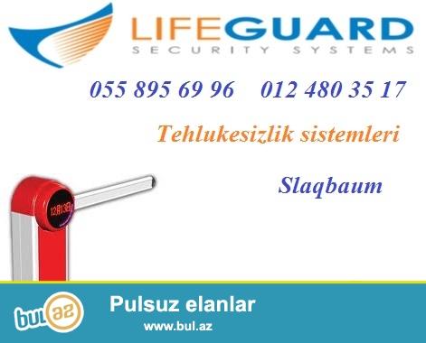 Slaqbaum. Tehlukesizlik kameralari. Guvenlik sistemleri <br /> <br /> LifeGuard sirketi avtomotik maneeler – slaqbaumlar teklif edir...