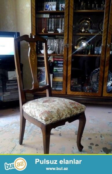 Продается венгерская гарнитура ЧАБА CSABA Королевский стиль:состоит из кабинетного(книжный шкаф, кресло, журнальный и диван) и столового(сервант, горка, бар, стол и 6 стульев...
