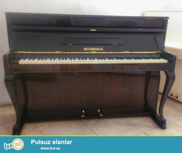 Teze, ideal veziyyetde Weinbach Pianino satılır.<br /> Qiymet razılşma yolu ile...
