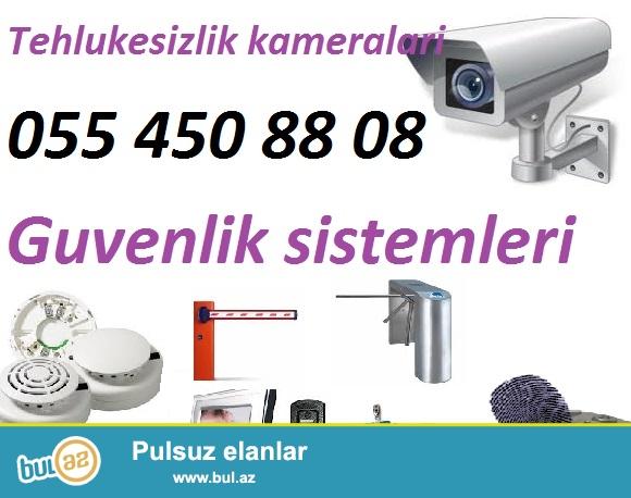 Tehlukesizlik kameralari <br /> <br /> Nezaret kameralari (analoq ve ya IP kamera, DVR, NVR) esas tehlukesizlik sistemi hesab edilir...