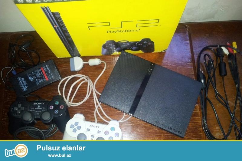 Əla vəzyətdə olan Playstation 2 satıram.Üstündə bütün şunurlarını+ qutusunu + 2 pult verirəm...