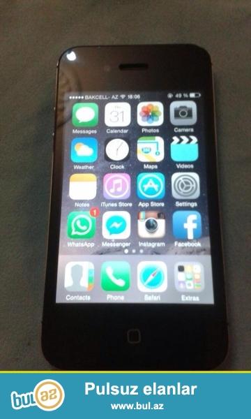 iphone 4s islenmis.16 gb derin cizigi yoxdu.prablemi cox isdedende ekran esir ...