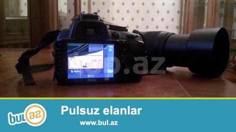 Təcili satılır tələsin.<br /> Nikon D3100 Nikkor 55-300 mm VR seriali obyektivlə çanta kart və aksesuarları ilə bir yerdə satılır...