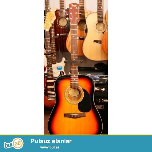 Fender Squier SA-105 <br /> <br /> Fender sirketinin heveskar gitara ifacilari ucun nezerde tutdugu SA-105 Dreadnought Acoustic Guitar ...