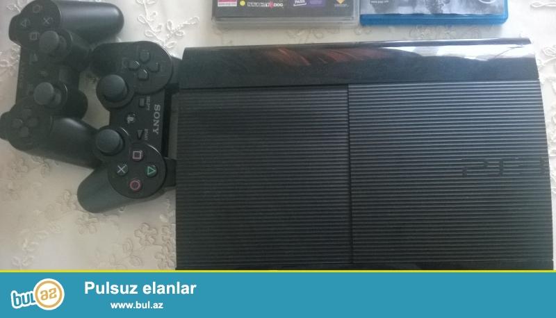 PS3 500 GB SUPER SLIM + 4 OYUN + 2 JOYSTICK+ HDMI CABLE<br /> 2 PULT ENERJI YIGAN<br /> OYUNLAR<br /> LAST OF US <br /> GTA V <br /> BF 4<br /> FIFA 13