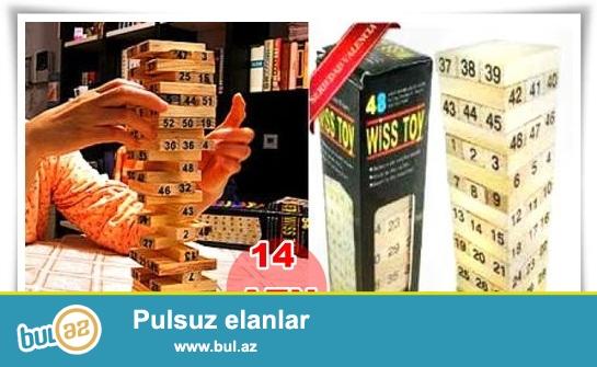 Jenga oyunu-İNDİ 14 AZN