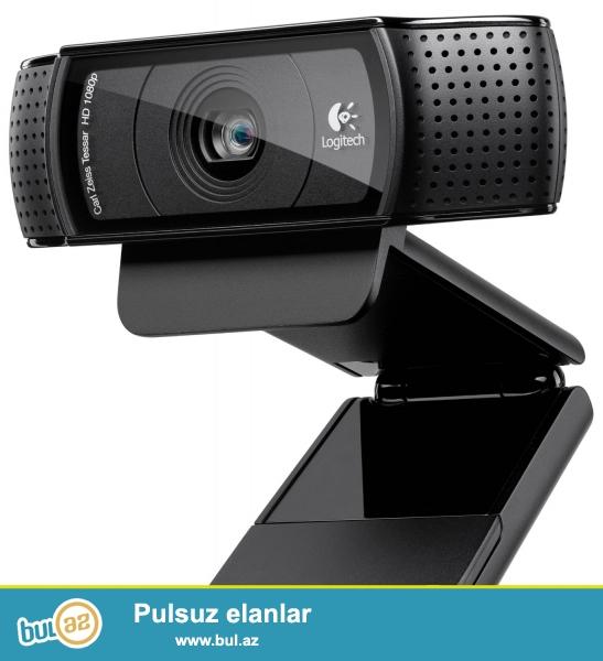 Logitech HD Pro Webcam C920, 1080p satiram. Elaqe ucun:<br /> Reshad<br /> 070-214-77-27<br /> 055-214-77-27