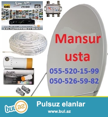 Krosnu Krosna Sputnik antena sailir ve qurulur. Mansur Usta 050-526-59-82 055-520...