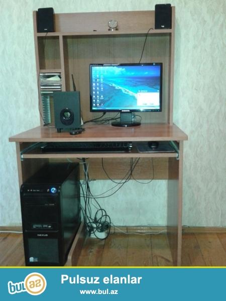 samsung personal komputeri satilir.<br /> stol,1 kalonka 2 basovka ile birlikde.