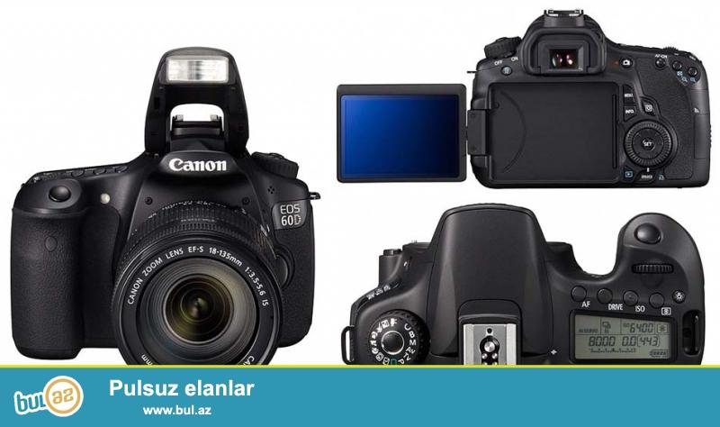 Professional Canon EOS 60D 18-135mm Satılır üstündə Çanta və 64 GB Yaddaş Kartı verilir...