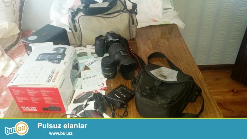 Canon 60D 18-200mm + 18-55mm lens  - az işlənmiş Əla vəziyyətdə...