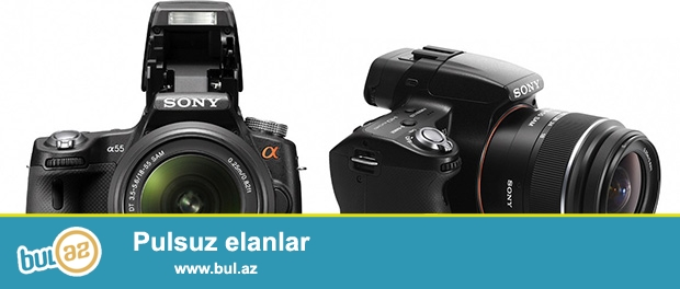 Sony alpha slt-33kit fotoaparat əla vəziyyətdə.2 dəfə işlənib.obyektiv 18-55.probeq 4000...