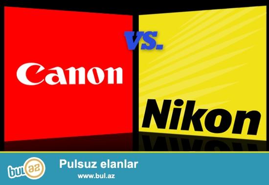 Canon, Nikon batareya və adapterlər. Hər növ foto kameralar üçün var...