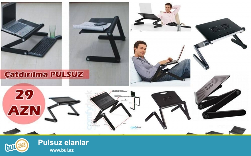 T8 Leptop masası-İNDİ 29 AZN<br />