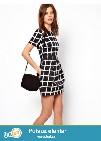горячие новые женщины одеваются элегантный шифона платье летом стиль платья свободного покроя шею с коротким рукавом плед платье