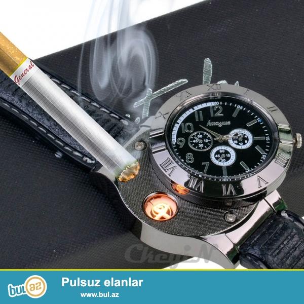 USB Alışqanlı Qol saatı zaryadka ilə işləyir...