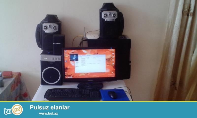 prossesir dual core 2.8 ghz <br /> NVIDIA GeForce GT220 1GB DDR3 128bit Graphic Card GT 220 HDMI VGA DVI <br /> GIGABYTE GA-G41MT AnaPlata <br /> RAM / PATIROD 2GB <br /> HDD 320 GB <br /> DVD ROM BLOKBİTANYA 230V <br /> Monitor SAMSUNG 2033 20 DiyaqanaqL LCD<br /> <br /> aparatura tek satlir basofqa 8 kalonka satlir 50 azn