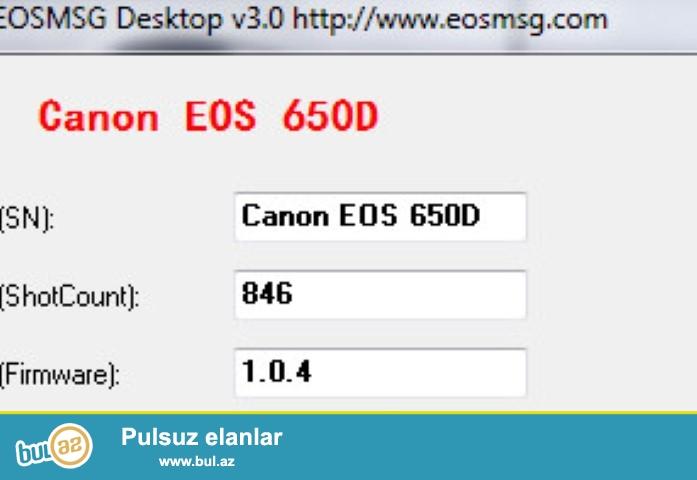 Satilir. Canon EOS 650D!  Qiymet 600AZN! 055.352.37...