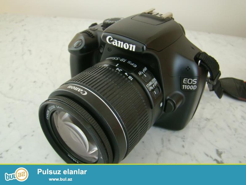 Canon eos 1100d full veziyyetde, her sheyi var. kart, batareya, kabel,koropkada  hamisi originaldi 480 manata almishdim...