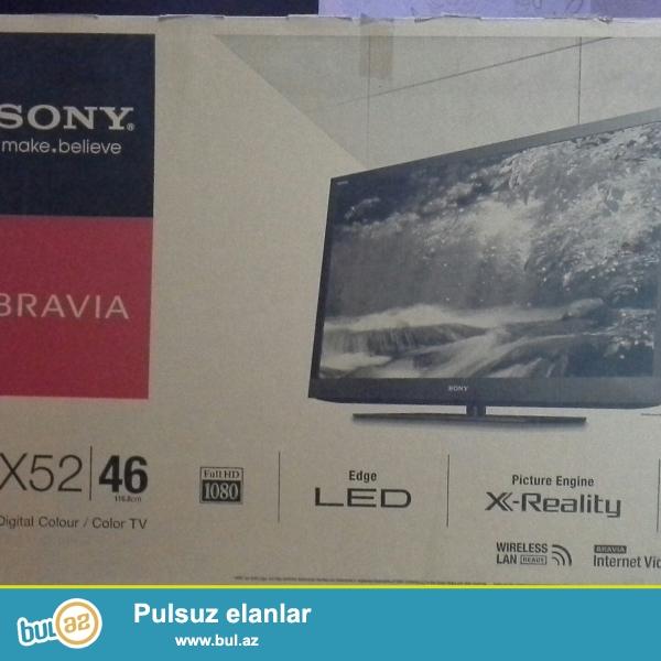 Təcili SONY BRAVİA 46ex520 markalı böyük ekran,118sm dioqonal,led,smart,rəqəmsal,3D funksiyalı televizor satıram...