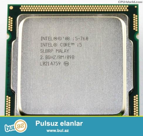INTEL CORE I5   760 <br />   2.8 GHZ  /8 M/ 09B <br /> L032B119<br /> LGA 1156