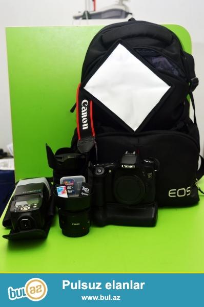 Satilir: Canon eos 70d(sened,qutu uzerinde), 6 ay evvel almiwam,cox caliwdim almaq ucun satmaq istemirdim amma pula ehtiyac var, aparatin probeqi 2000 olar olmaz baxa bilersiniz,cizgi bele yoxdur,Canon eos 70d+18-200+50mm1...