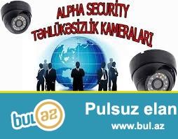 IP kamera – yuksek keyfiyyetli cekilis. Muxtelif nov tehlukesizlik sistemleri...