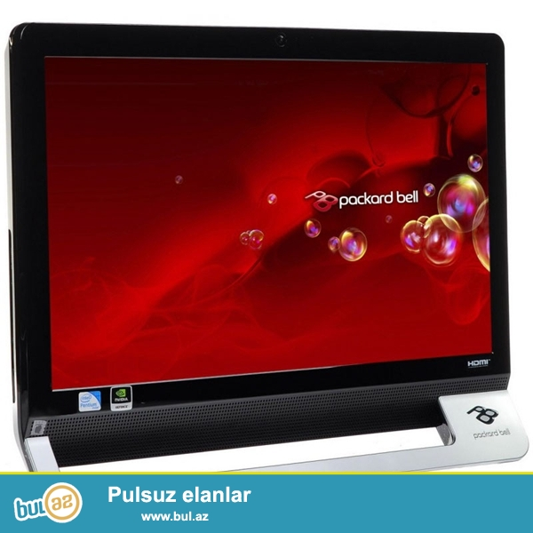 Acer-Packard Bell <br /> Pro:A6 3620-2.2GHZ <br /> Ram:6GB <br /> Vga:1GB <br /> Hdd:500GB <br /> Screen:touch screen <br /> Yaxwi veziyyetde...