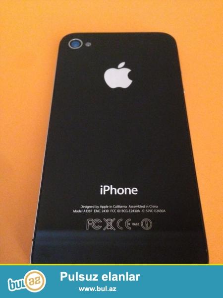 <br /> Iphone 4s qara reng 16qb ios 8.4.1.<br /> Ela veziyyetde,ustada olmayib,eziyi cizigi yoxdu,<br /> yaxshi zaryatka saxlayir,qabaq suse,islemeyine soz ola bilmez...