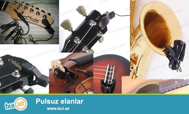 Gitara Skripka Sacsafon ve diger aletler ucun mikrafonlar <br /> Simli ve nefesli aletler ucun nezerde tutulmus xususi mikrafonlar...