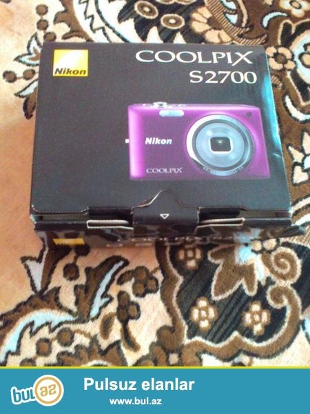 Nikon fotoaparat hemde fotokamera 16 mp<br /> Demek olarki hec iwlenmeyib <br /> Coolpix S2700 16megapixsel