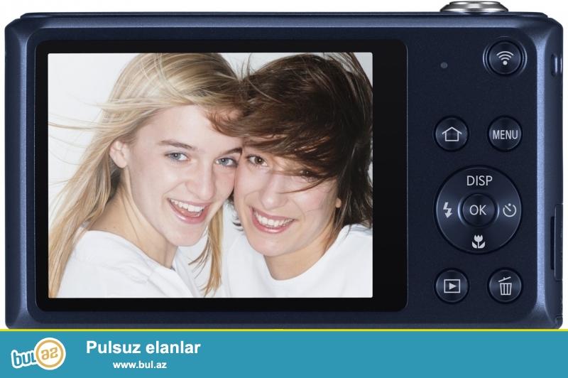 Samsung DV150F 16.2MP<br /> Wi-fi<br /> Selfie ucun on terefde manitor var<br /> 16...