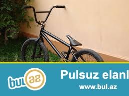 bmx velosiped satiram 200 azn barter 4 carxli kvadrasiklla 200 azn bmx ela veziyyetde  velosiped qara rengde tormozu var el tormozu arxa tormoz