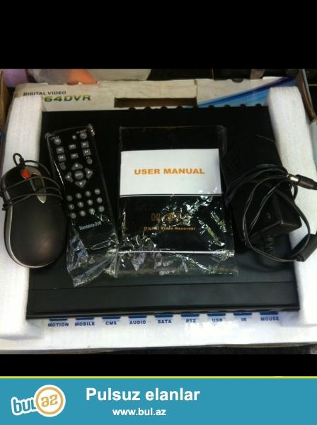 Model DVR H.264<br /> 16 cixis<br /> Auidio,LAN,HDMI cixis<br /> WEKILDEKIDIR TEZE<br /> KAROBKADA...