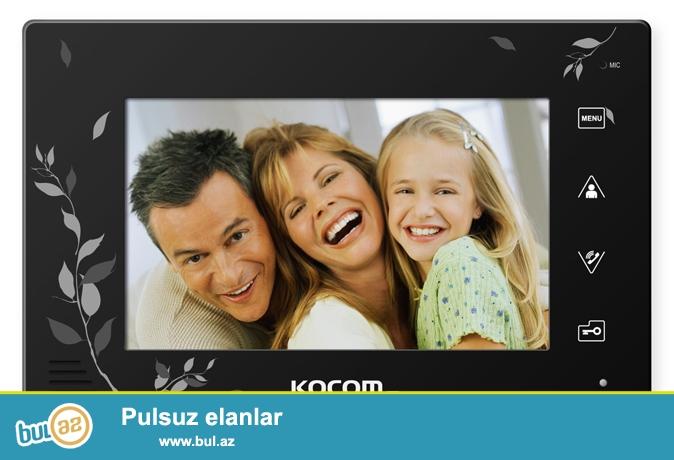 VIDEODOMOFON --KOCOM - model-KCV-A374SD      RENGLI GORUNTULU VIDEODOMOFON  TEZEDI,UPAKOVKADADI,  MAGAZADA GIYMETI 300 AZN-DI.