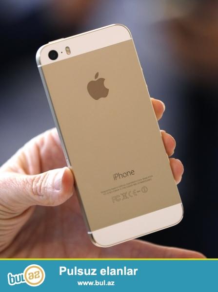 Iphone 5s gold satilir. Ideal veziyyetdedir. Adapter, usb, karobkasi her seyi var...