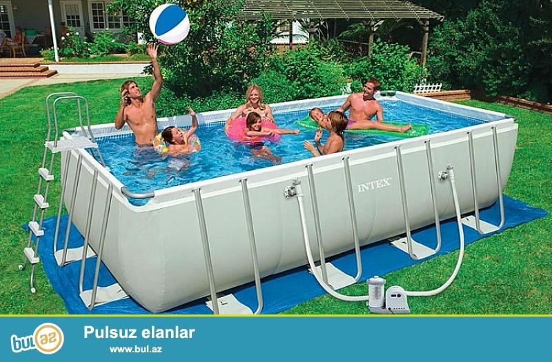 Прямоугольный каркасный бассейн Intex 54482 (28352) Restangular Ultra Frame Pool, 549 х 274 х 132 см в комплекте фильтрующий насос + аксессуары<br /> <br /> Сборный каркасный бассейн серии Ultra Frame Rectangular Pool быстро и легко устанавливается...