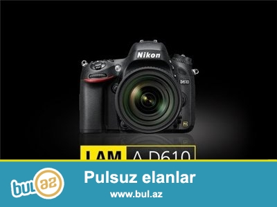 Nikon D610 + Nikkor 24-120mmF4G ED VR, + Nikon MB-D14 Battery grip original, + 2 dene Nikon EN-EL15 original batareya...