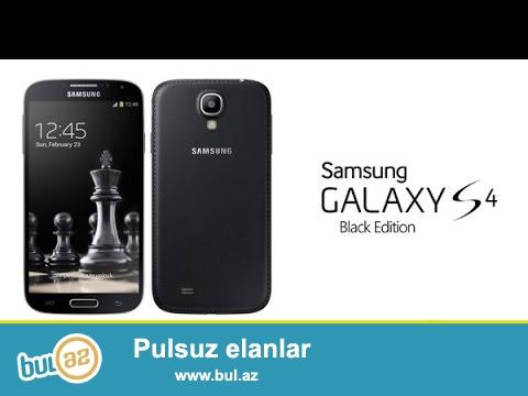 Samsung s4 Black Edition...Ela veziyyetde..Karopkasi,adaptri,nausniki,arxasinda kabrosu var...