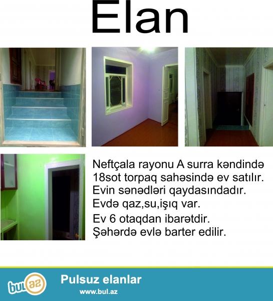 Neftçala rayonu A.Surra kəndində 18sot torpaqda 6 otaqlı,təzə təmir edilmiş ev satılır...
