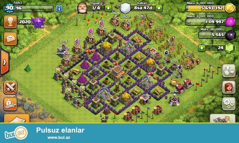 Clash of clans satlir 90 level supper max eladi beledye 8 whatsap 0705976027