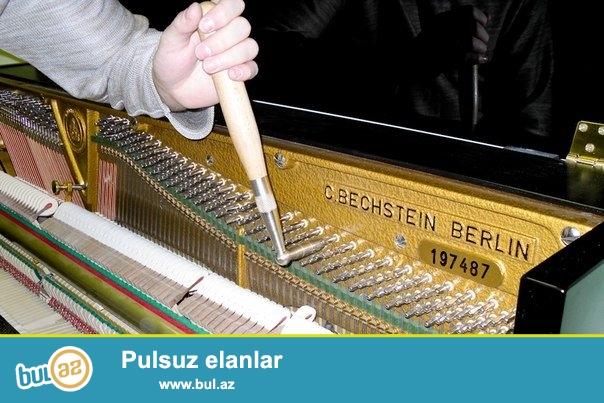 pianino royal təmiri və köklənməsi