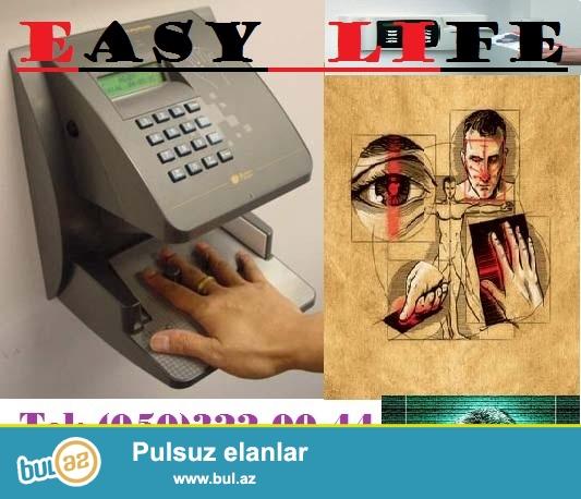 BIOMETRIKA-BARMAQ IZI sistemleri; EASY LIFE sirketi sizing tehlukesizliyiniz ve guvenliyiniz ucun en son model ve olcude nezaret ve tehlukesizlik sistemlerinin satisini ve qurasdirilmasini teklif edir...