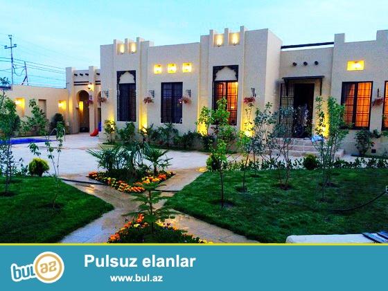 **РУФАТ*АЙНУР** Срочно продается новопостроенный 1но этажный дом в Мардакане в мараканском стиле, расположенный на 6ти сотах приватизированной земли ,150 кв...