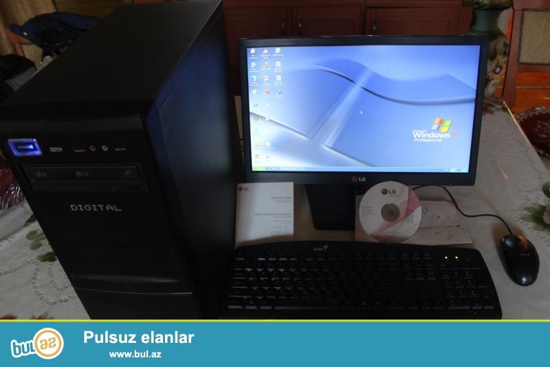 Monitor LG 19<br /> Keys<br /> Ram 2.GB<br /> Videocard 256<br /> Hard disk 500 GB<br /> <br /> Şəkildə olan komputerdi...