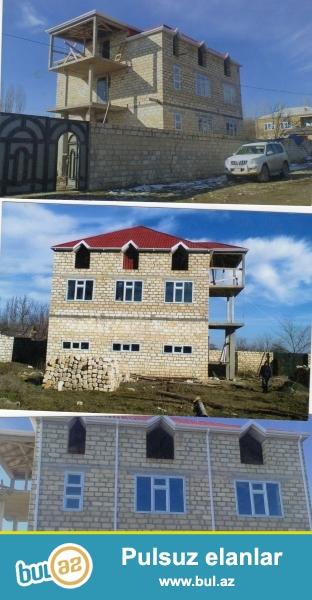 Həci Vaqif - Qusar yolunun üstündə Qusara 2 km məsafədə 15 sot torpaq sahəsində ümumi sahəsi 140 kv...