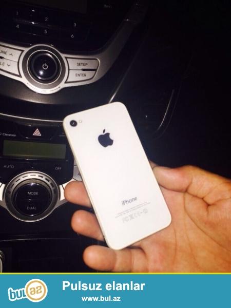salam iphone 4 s 16 ag reng telde hec bir prablem yoxdu acilmayib tel cizigi bele yoxdu usdunde adapter verilir buyurun whatsapp 055 401 0668 tecili satilir razilawmaq olar buyurun