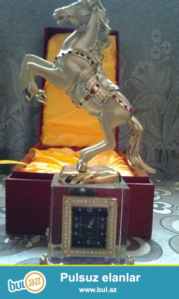 Saatlı at heykelı,qıymetı 40 azn razılasmaq olar tezedı