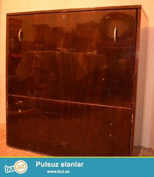Шкаф + кровать 2 в 1<br /> Раскладная кровать<br /> Мебель<br /> Размеры: 43х96х100 (в) см<br /> В нормальном состоянии<br /> Сделано в СССР