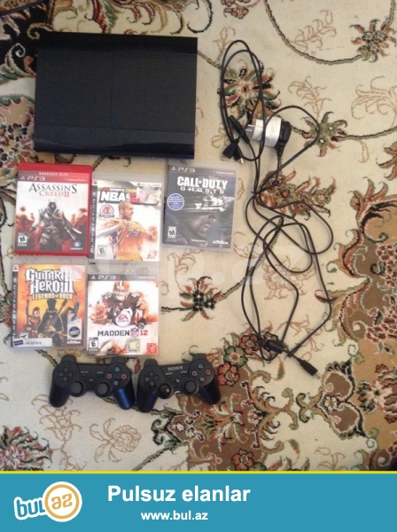 Playstation 3 (PS3) orginal mehsuldur.En son versiaysidi superslim yaddasi 500GB dir...